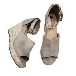Big Buddha Taupe Faux Suede Espadrille Sandals